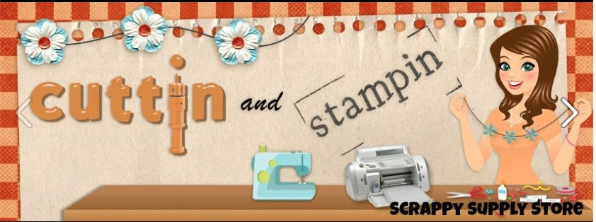 Cuttin and stampin logo