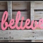 DIY Glitter Words