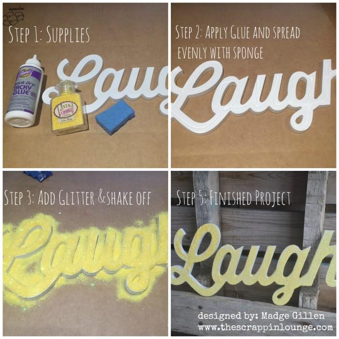 Quick Glitter Home Decor DIY