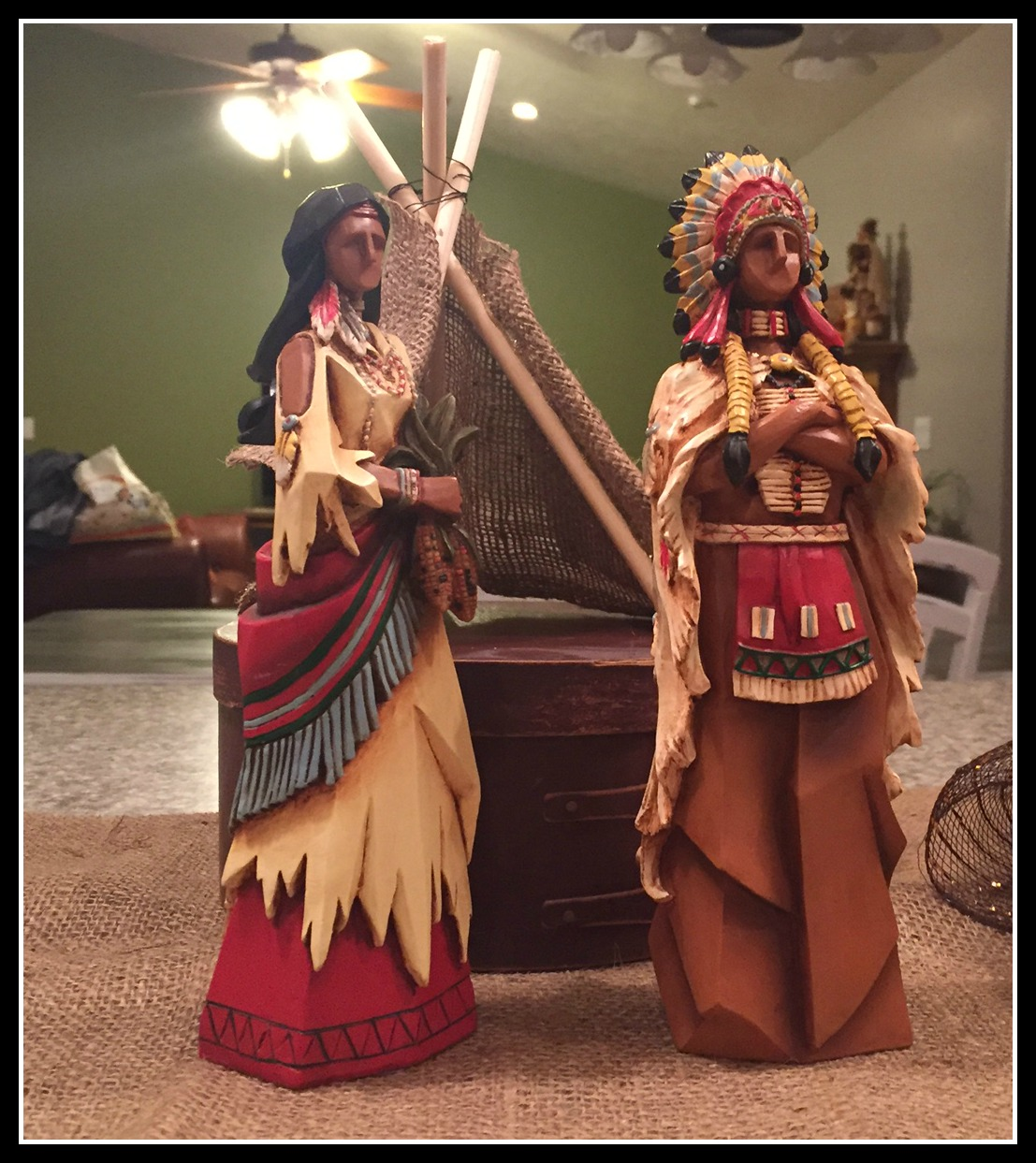 Indians and Tee Pee
