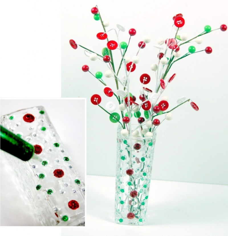 christmas-polka-dot-vase