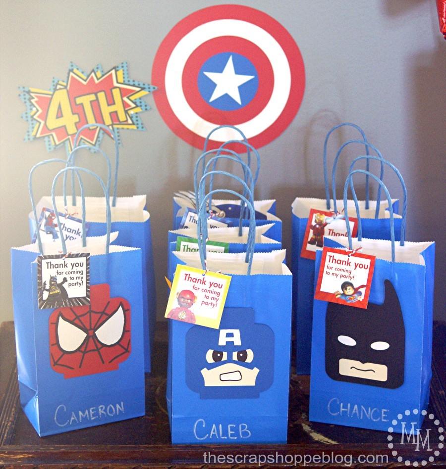 lego superhero birthday party the