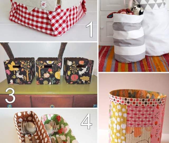 Fabric Bin Basket Tutorials Some Sew And Some No