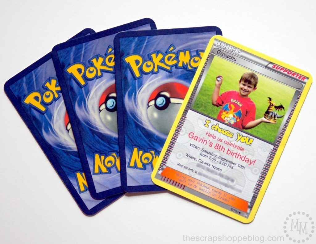pokemon card birthday invitation the