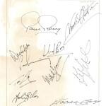 Signed sheet