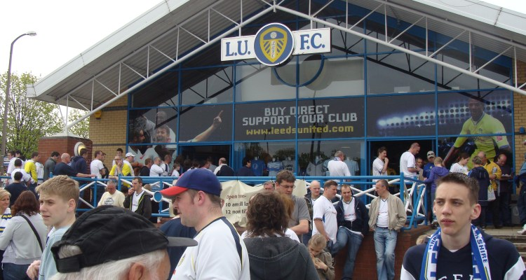 Last day of the season and still in League 1 and we still have a massive queue coming out of the Elland Road store.