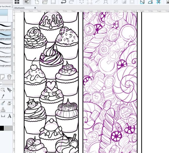 Screenshot of Coloring Bookmarks