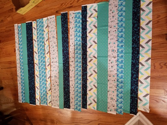 Teal and Blue Quilt