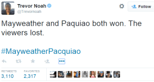 Trevor Noah on Mayweather vs pacquiao fight image