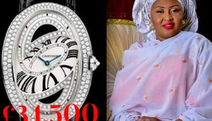 Aisha Buhari expensive watch image