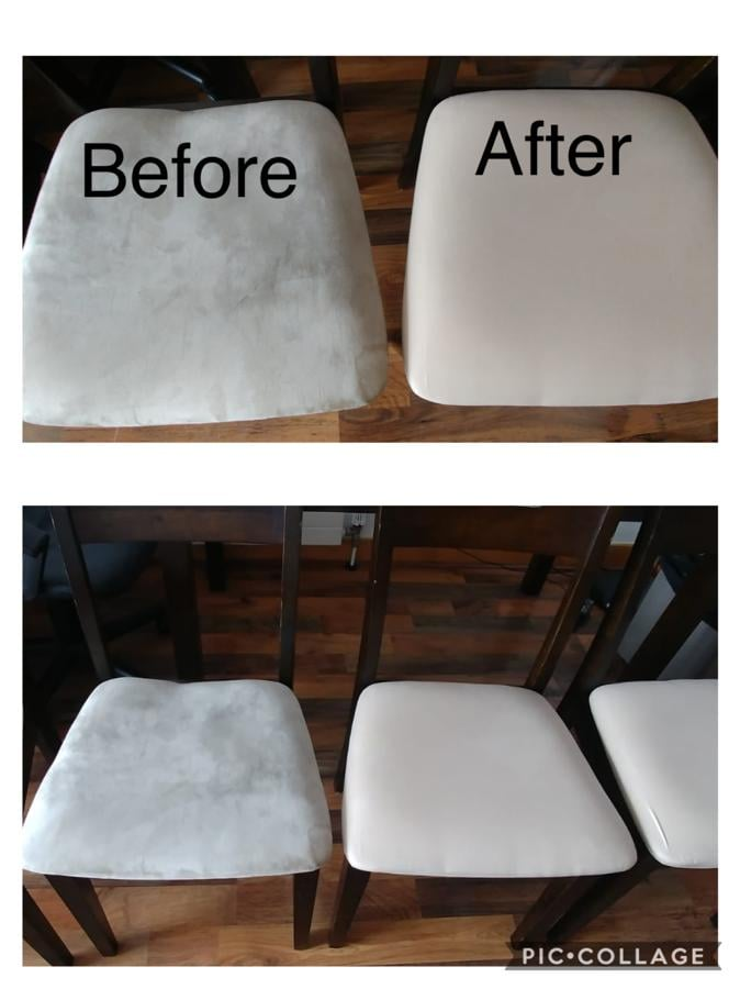 Chairs cleaned using Karcher machine