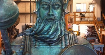 The Guardian of the Reef sculpture as he goes in the crate to be shipped from the foundry. Photo courtesy Divetech.