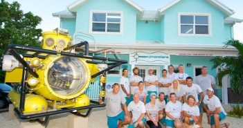 The winning Ocean Frontiers team at the Compass Point Resort at East End, Grand Cayman. Photo courtesy Ocean Frontiers.