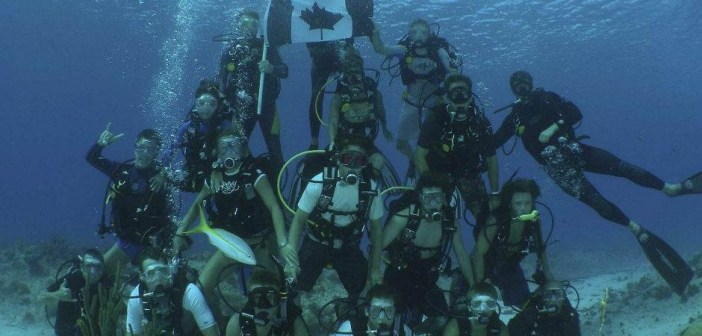 Canadian Divers Underwater