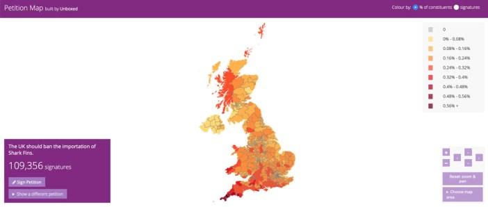 UK Petition Map