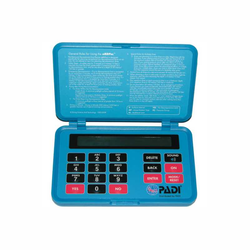PADI Electronic Recreational Dive Planner