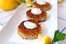 Crab Cakes with Cilantro Lime Sauce