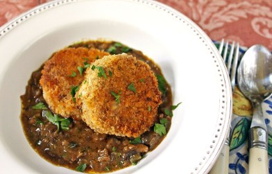 Pozharsky Cutlets with Mushroom Madeira Sauce