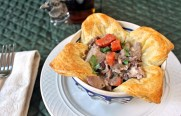 Pheasant Stew in Puff Pastry