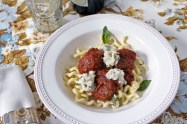 Pork Meatballs with Fresh Tomato Sauce & Herbed Ricotta