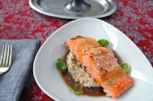 Lacquered Steelhead Trout with Roasted Cauliflower Puree