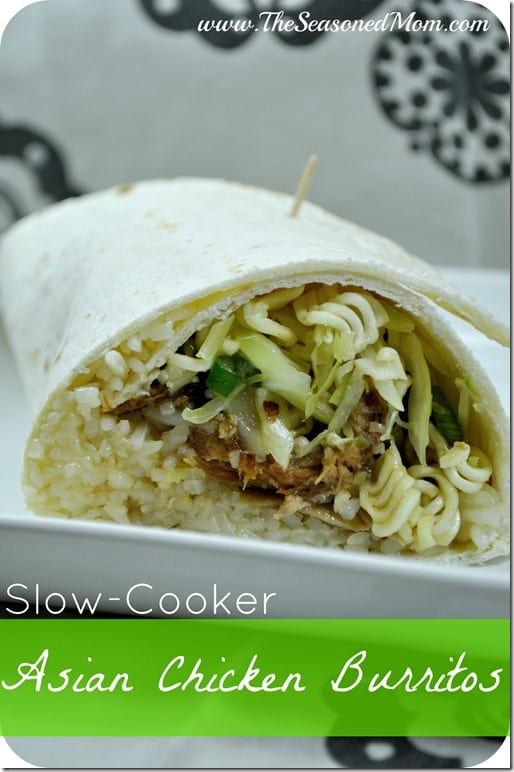 Slow-Cooker Asian Chicken Burritos