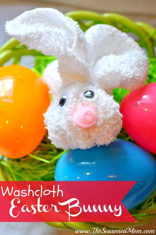 The Perfect Easter Decoration: A Washcloth Easter Bunny
