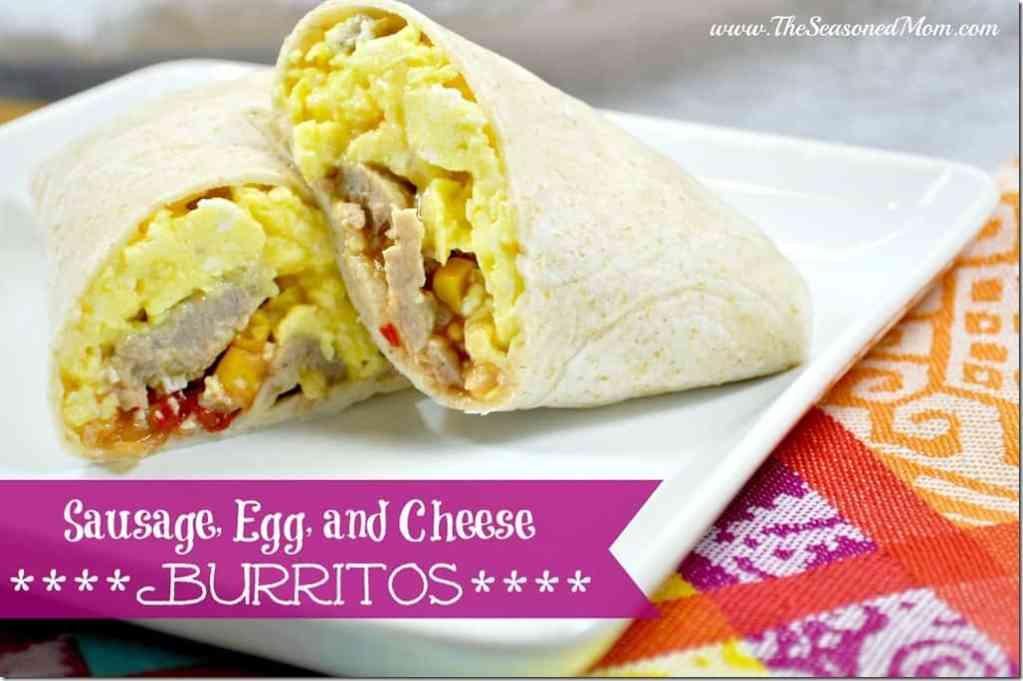Sausage, Egg, and Cheese Burritos