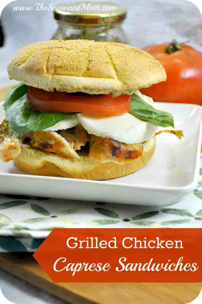 Grilled Chicken Caprese Sandwiches