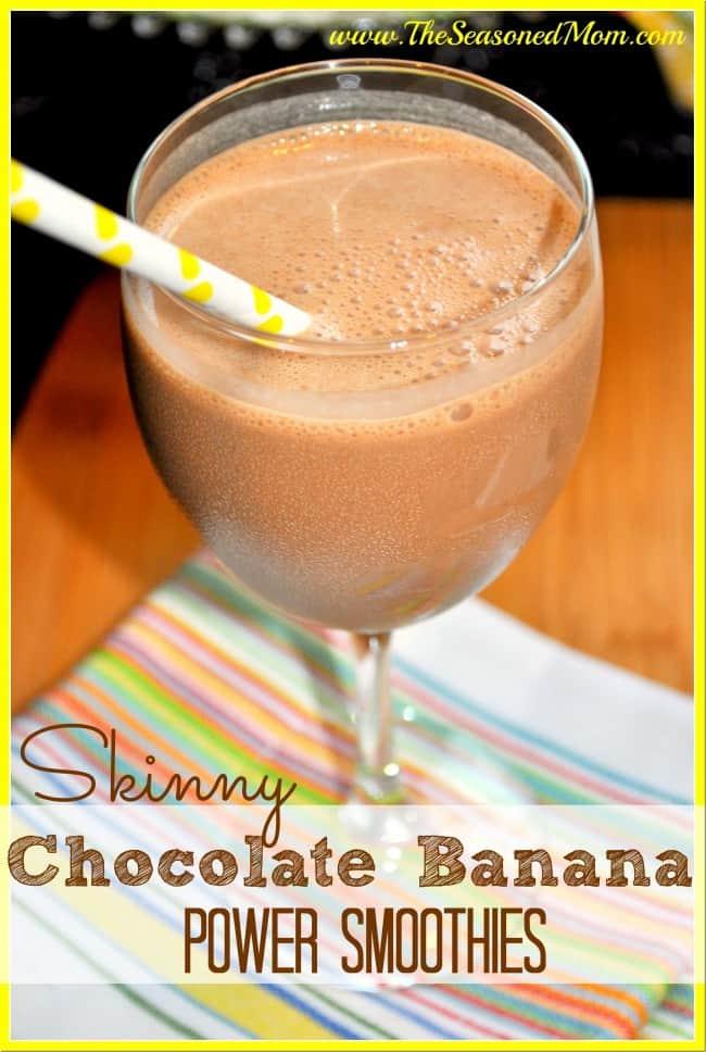 Skinny Chocolate Banana Power Smoothies