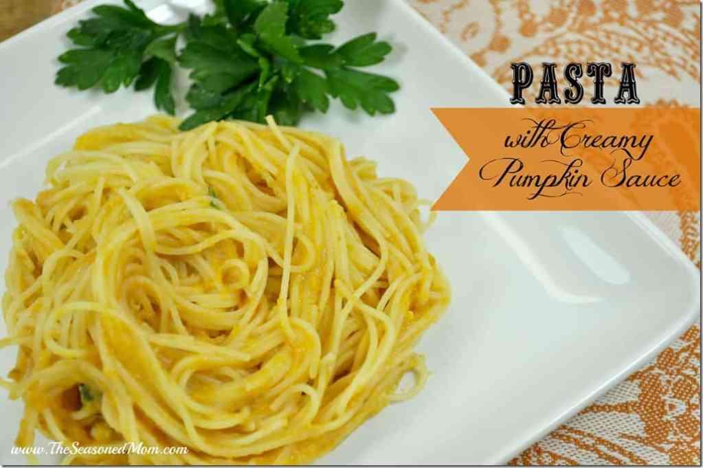 Pasta with Creamy Pumpkin Sauce