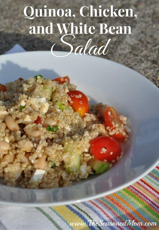 Quinoa, Chicken, and White Bean Salad