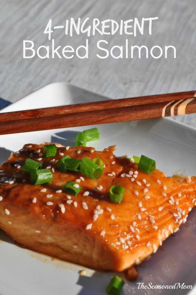 4-Ingredient Baked Salmon