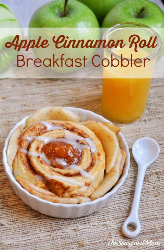 Easy Breakfast Ideas: Apple Cinnamon Roll Breakfast Cobbler