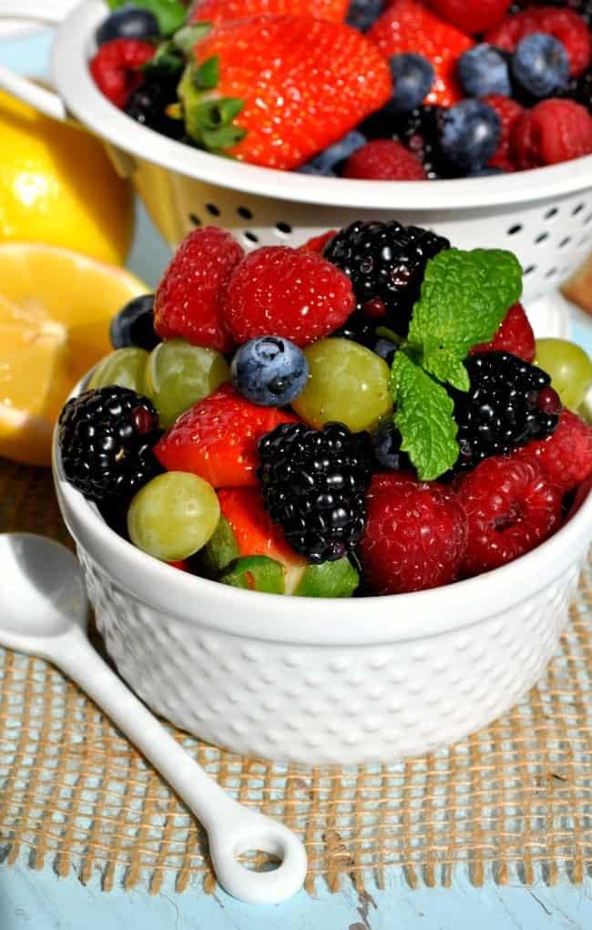 Fruit Salad with Honey Lemon Dressing
