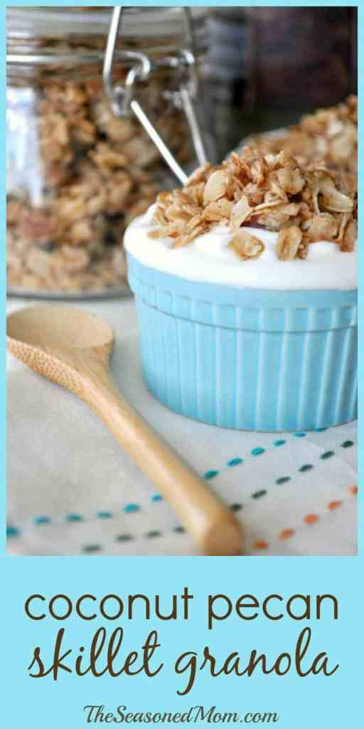 Coconut Pecan Skillet Granola + Other New Ways to Pamper Myself!