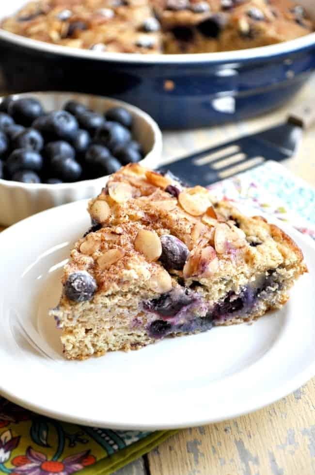 Lightened-Up Blueberry Coffee Cake