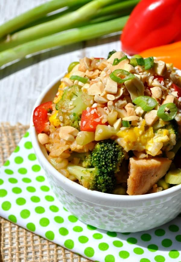 Thai Peanut Chicken Fried Rice