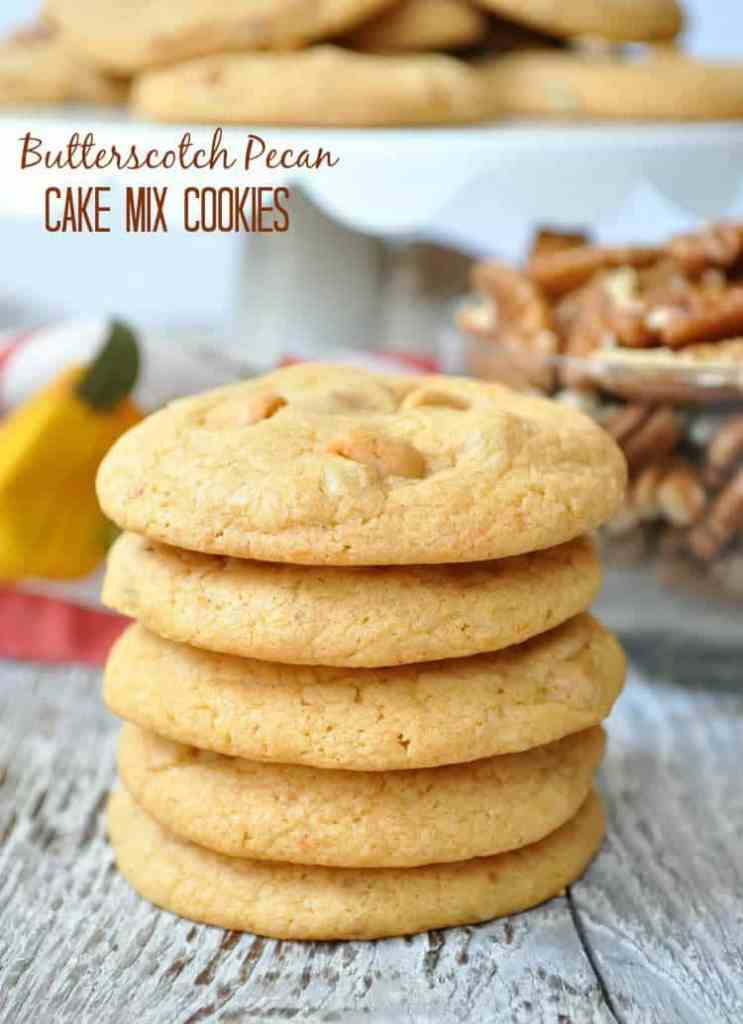 Butterscotch Pecan Cake Mix Cookies