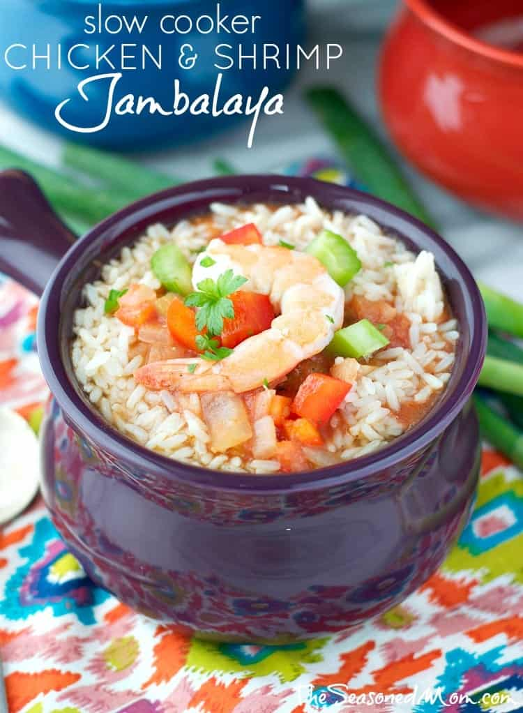 Slow Cooker Chicken and Shrimp Jambalaya