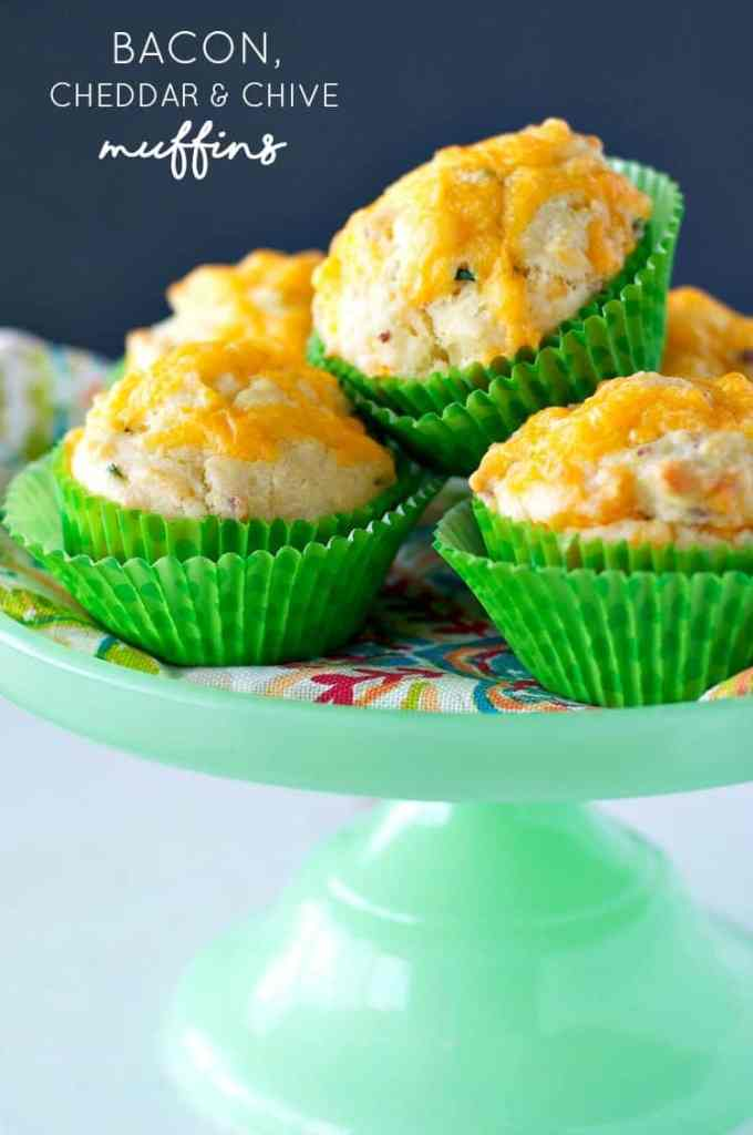 Bacon Cheddar and Chive Muffins