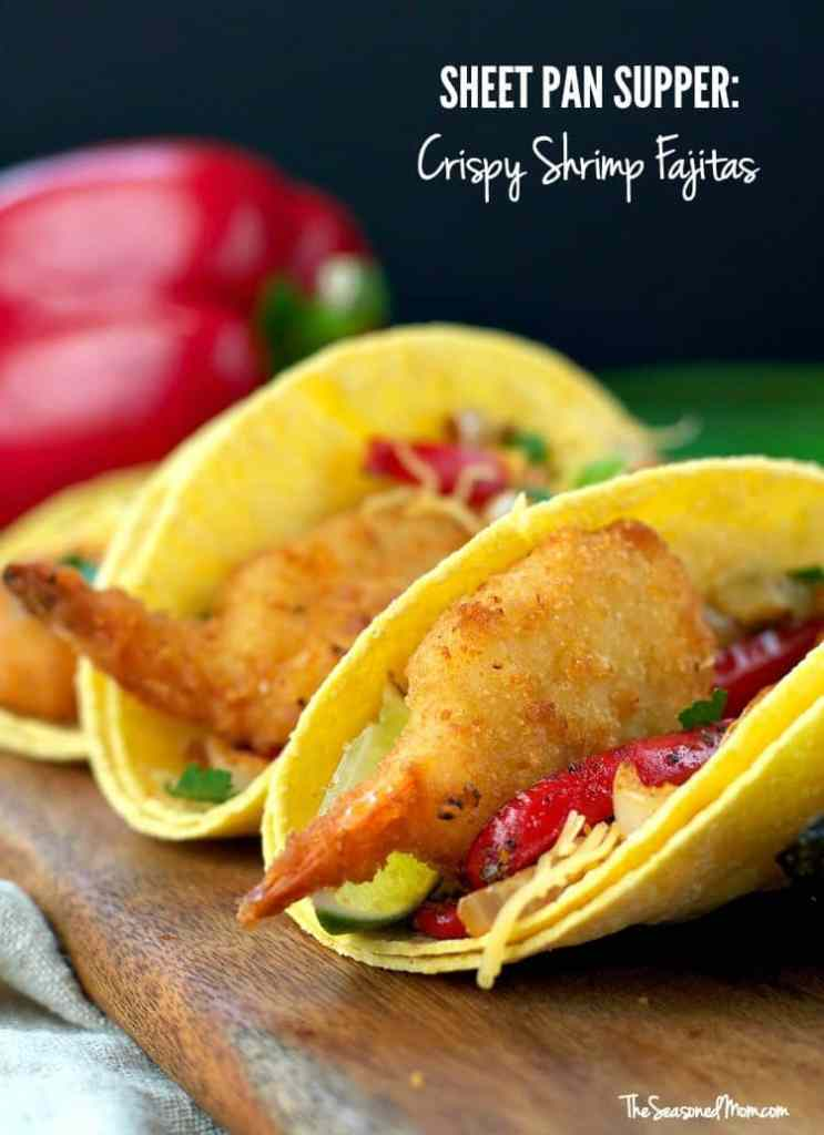 Sheet Pan Supper: Crispy Shrimp Fajitas