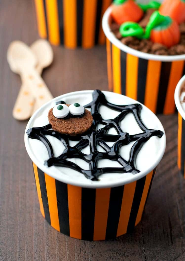 These easy Halloween Yogurt Cups are a 5-minute snack idea that the kids cannot resist!