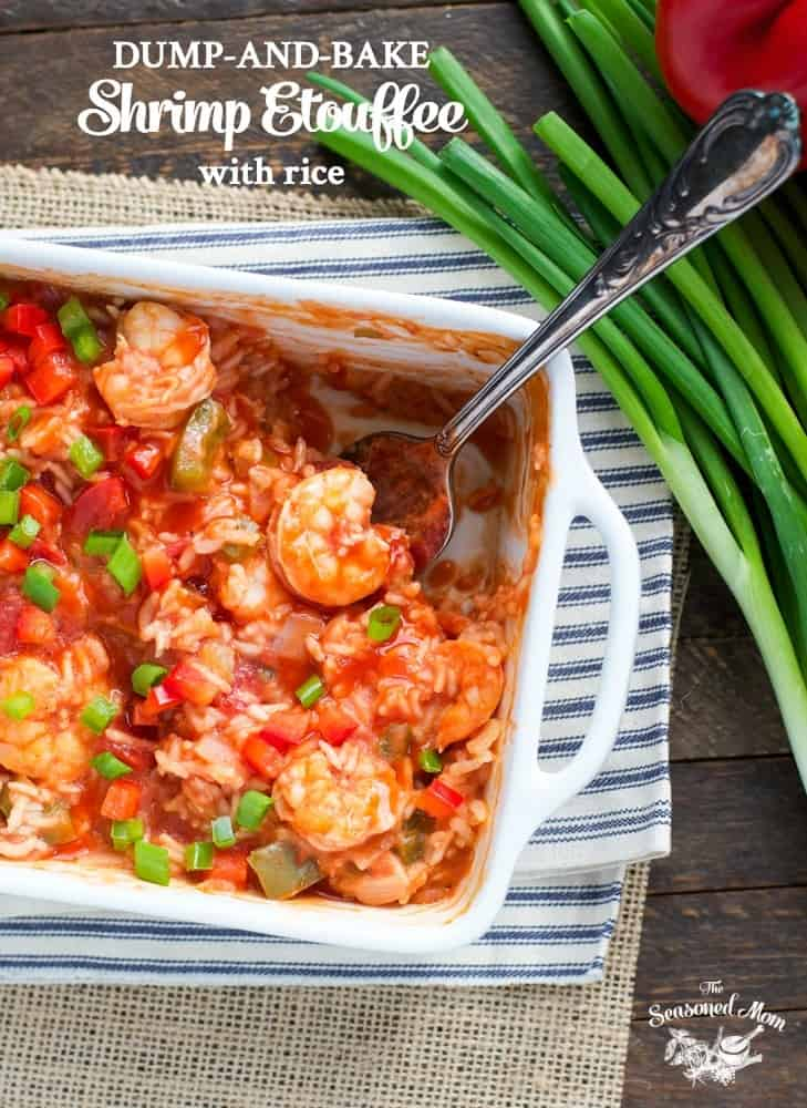 Dump-and-Bake Shrimp Etouffee with Rice