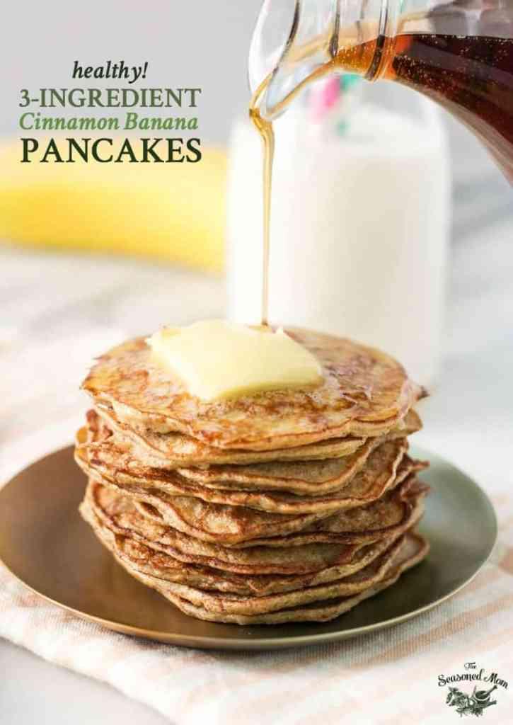 3-Ingredient Healthy Banana Pancakes