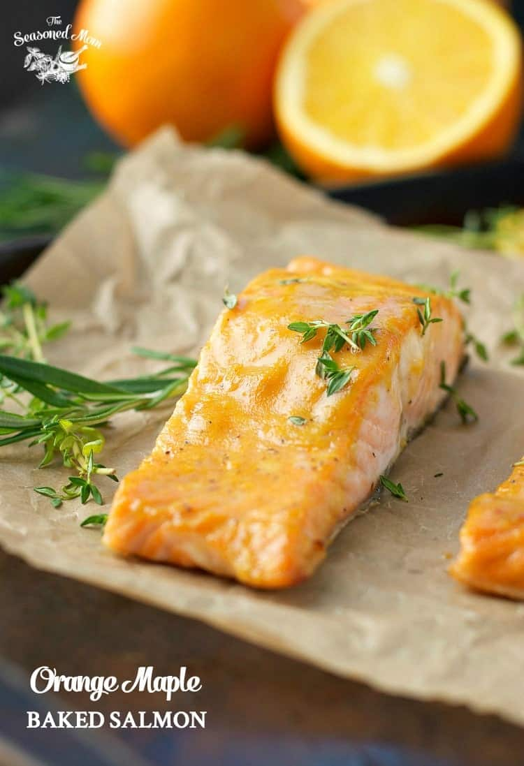5 Ingredients And 5 Minutes Of Prep For This Orange Maple Baked Salmon!  Seafood Recipes