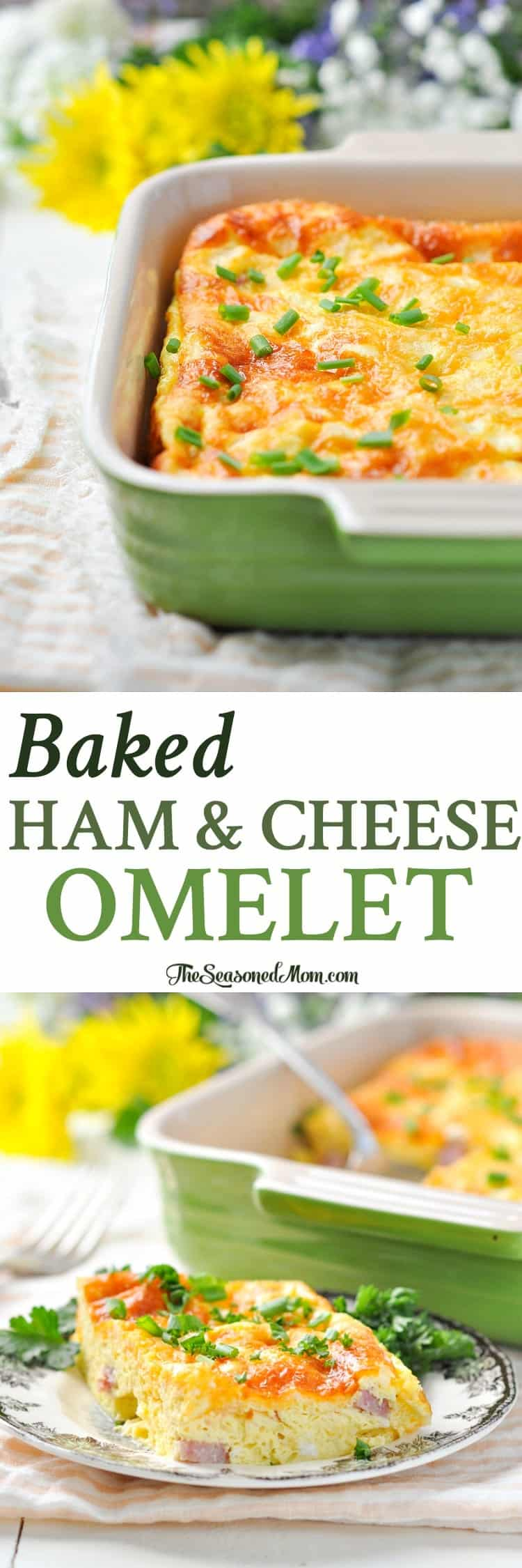 Baked Ham and Cheese Omelet | Healthy Breakfast Recipes | Breakfast ...