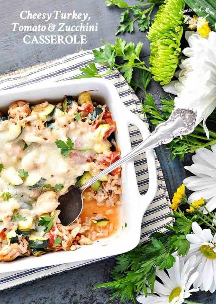 Cheesy Turkey, Tomato and Zucchini Casserole