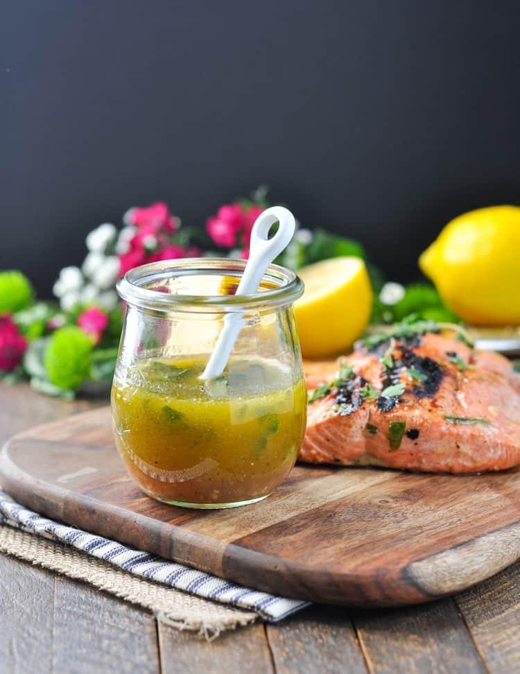 Garlic and herb salmon marinade the seasoned mom for Marinade for fish