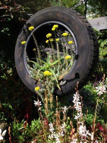 Hanging tyre